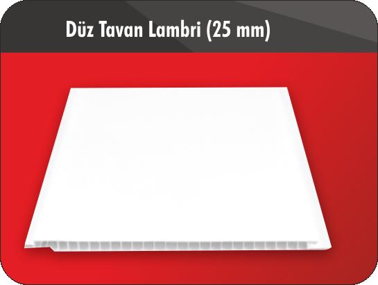 DÜZ TAVAN LAMBRİ (25)CM